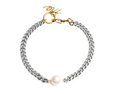 Simple Pearl Thin Chain Bracelet