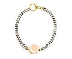 Moon Pendant Thin Chain Bracelet