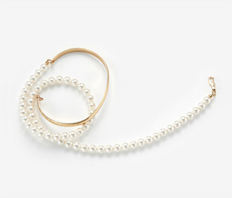 [Monday Edition] Long Pearl Wire Bangle (40%off)
