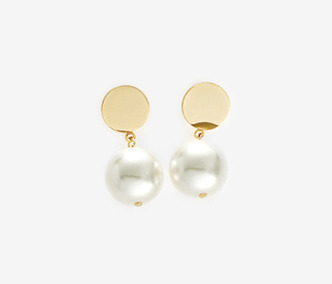 [이요원 착용] Drop Bold Earrings - PEARL