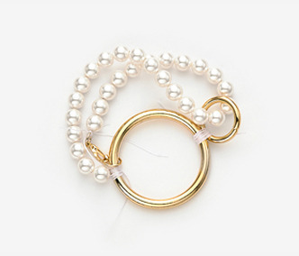 Circles and Pearl Bracelet