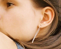 Usual Silver Long Chain Earrings