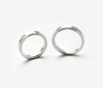 Love Me Silver Ring For Couple x2 20% Off