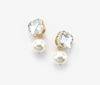 [Monday Edition] Bold Crystal Pearl Earrings (20%off)