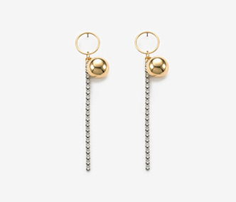 Drop And Crystal Earrings