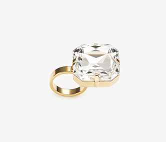 [Monday Edition] Bold Crystal Ring (20%off)