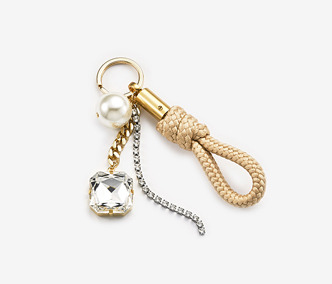 Pearl And Crystal Rope Key Ring