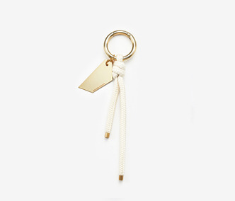 Metal Board And Rope Key Ring