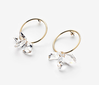 [아이린 착용] Crystal Flower Earrings