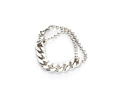 usual silver ball and chain ring