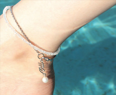 [발찌] usual drop me pearl chain anklet