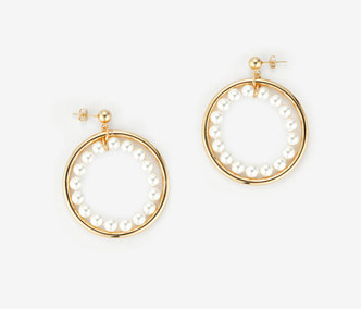[Monday Edition] Pearl Circle Earrings