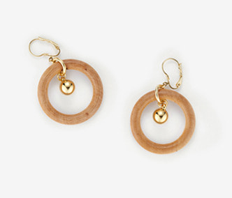 [Monday Edition] Wood Circle and Drop Earrings