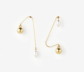 [Monday Edition] Ugly Pearl Simple Earrings