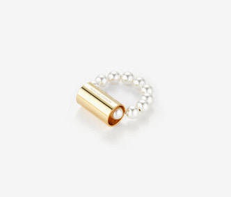 [Monday Edition] Pipe and Pearl Ring (20%off)