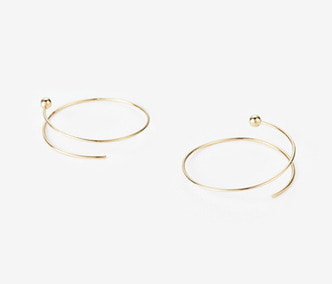 [PRECIOUS] Twisted Circle And Ball Earrings BIG (15%off)
