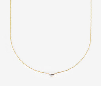[PRECIOUS] Baguette Stud Cubic Necklace (15%off)