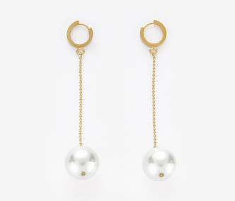 Big Pearl Drop Earrings