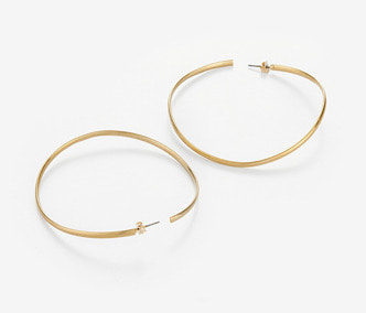 [Monday Edition] Wave Big Circle Earrings