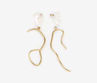 [Monday Edition] Ugly Pearl Wavy Earring
