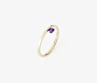 Birthstone Ring Amethys - February
