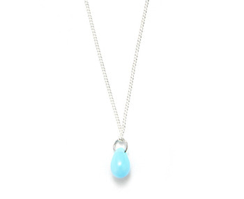 bohemian glass necklace_sky blue
