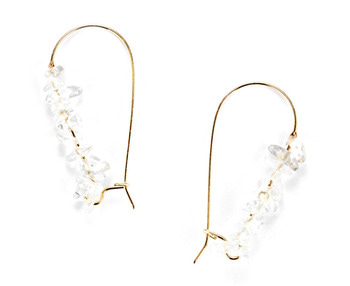 clear quartz earring