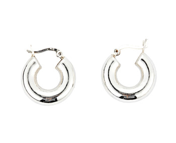 silver hoop earrings 3