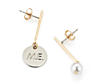 drop M.E & pearl earrings
