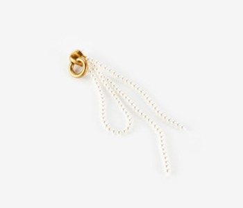 [Monday Edition] Pearl Knot Zipper Single Earring