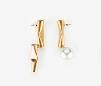 [Monday Edition] Crushed Pipe Pearl Earrings (20%off)