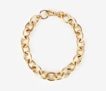 bold oval chain necklace