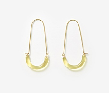 U Shape Glass Earrings