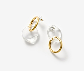 Semicircle and Ring Earrings