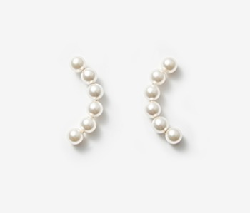 Arc Shape Pearl Earrings