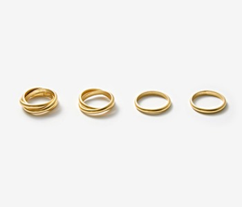 [Monday Edition] Simple Mobius Ring Set (15%off)