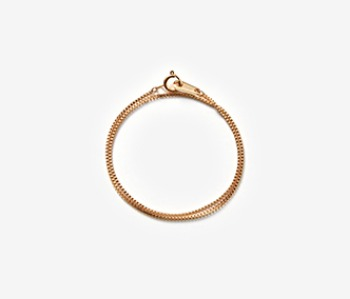 [MEdMAN] golden thin chain blacelet (20%off)