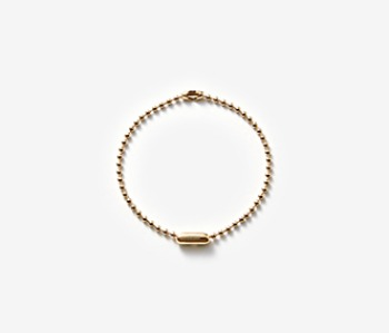 [MEdMAN] golden simple ball chain bracelet (20%off)