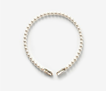 Pearl & Pointed Crystal Necklace (15%off)