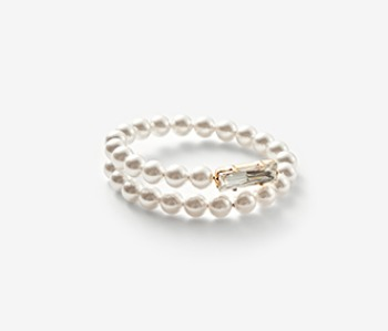 Pearl & Pointed Crystal Bangle