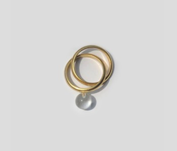 Glass Ball Mobius Ring (10% off)