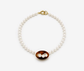 Piece of Dahlia Pearl Necklace (10% off) (2주예약배송)