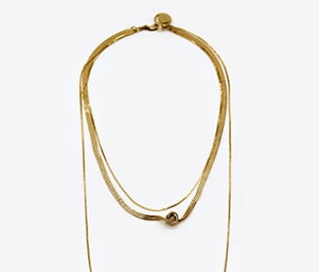 Tangled Flat Chain Necklace (10% off) (2주예약배송)