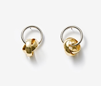 [Monday Edition] Mobius Ring Pendant Earrings (10%off)