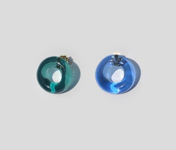 Sweet Donut Glass Earrings (10% off)